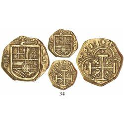 Cartagena, Colombia, cob 2 escudos, 1628E, rare.
