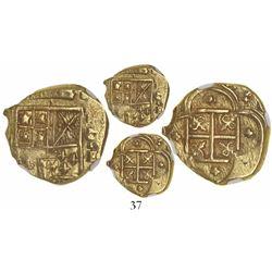 Cartagena, Colombia, cob 2 escudos, (1633)E, encapsulated NGC AU 58.