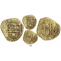Bogota, Colombia, cob 2 escudos, 164(?), assayer R to left.