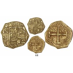 Bogota, Colombia, cob 2 escudos, Philip IV, assayer not visible (R, ca. 1654), from the Maravillas (