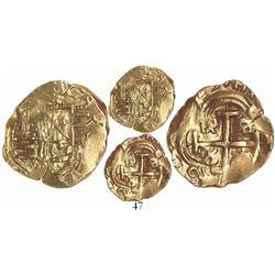 Bogota, Colombia, cob 2 escudos, (168)7, assayer sM, very rare.