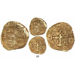 Bogota, Colombia, cob 2 escudos, Charles II, assayer G to right (1680s-90s), from the 1715 Fleet.