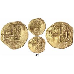 Bogota, Colombia, 2 escudos cob, Charles II, assayer not visible (Arce, 1690s), from the 1715 Fleet.