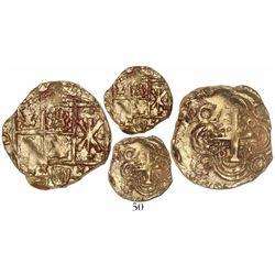 Bogota, Colombia, cob 2 escudos, (16)99, no assayer (Arce), from the 1715 Fleet.