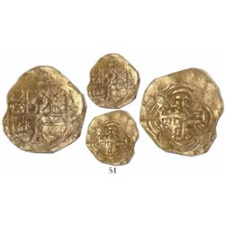 Bogota, Colombia, cob 2 escudos, Charles II, assayer not visible (Arce, 1690s), from the 1715 Fleet,