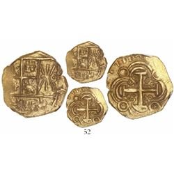 Bogota, Colombia, cob 2 escudos, 1711, no assayer, choice specimen from the 1715 Fleet, encapsulated