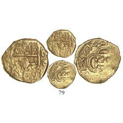 Seville, Spain, cob 1 escudo, 1614(V), rare.