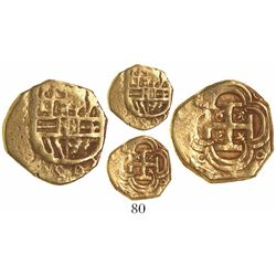 Seville, Spain, cob 1 escudo, Philip III, assayer G(?).