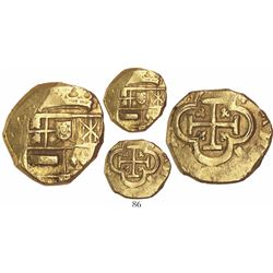 Seville, Spain, cob 4 escudos, Charles II, assayer not visible.