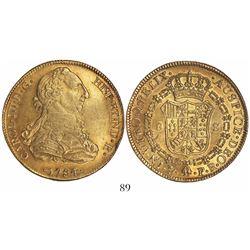 Potosi, Bolivia, bust 8 escudos, Charles III, 1784PR.