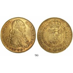 Potosi, Bolivia, bust 8 escudos, Charles IV, 1799PP.