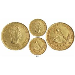Potosi, Bolivia, 4 scudos 1841LR, rare one-year type.
