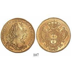 Brazil (Rio mint), 6400 reis, Maria I and Pedro III, 1786-R.
