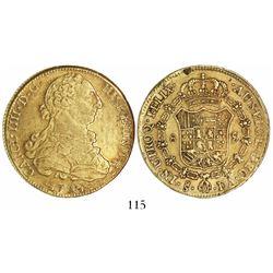 Santiago, Chile, bust 8 escudos, Charles IV, 1794DA.