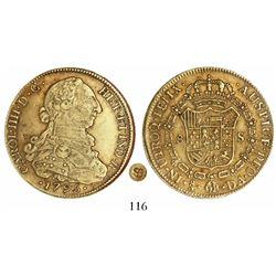 Santiago, Chile, bust 8 escudos, Charles IV, 1795DA.