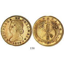Popayan, Colombia, 8 escudos, 1833UR.