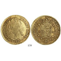 Contemporary counterfeit (made to look like a Mexico City, Mexico, bust 8 escudos, Ferdinand VII but