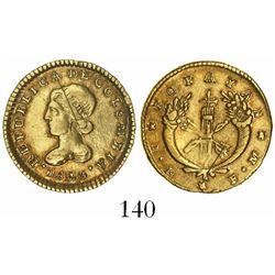 Popayan, Colombia, 1 escudo, 1825FM.