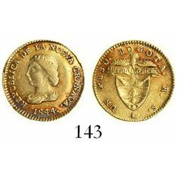 Bogota, Colombia, 1 peso, 1844RS.