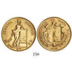 Costa Rica, 1/2 onza (4 escudos), 1850JB.
