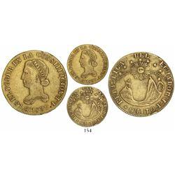 Quito, Ecuador, 4 escudos, 1837FP.