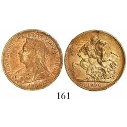 Great Britain (London, England), sovereign, Victoria (widow bust), 1896, from the Egypt (1922).