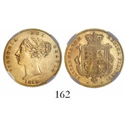 Great Britain (London, England), 1/2 sovereign, Victoria (young head), 1859, from the SS Pewabic (18