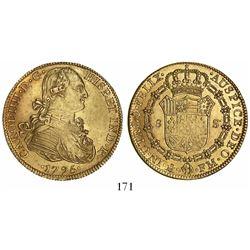 Mexico City, Mexico, bust 8 escudos, Charles IV, 1795FM.