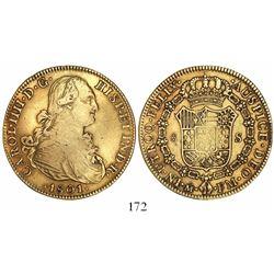 Mexico City, Mexico, bust 8 escudos, Charles IV, 1801FM.
