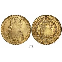 Mexico City, Mexico, bust 8 escudos, Charles IV, 1802FT.