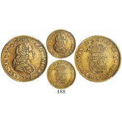 Lima, Peru, bust 1 escudo, Ferdinand VI, 1759JM, rare, encapsulated NGC XF 45.