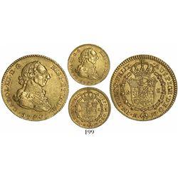 Madrid, Spain, bust 2 escudos, Charles III, 1780PJ.