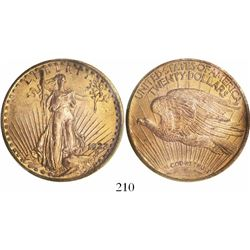 USA (Philadelphia mint), $20 St. Gaudens, 1922, encapsulated PCGS MS63.