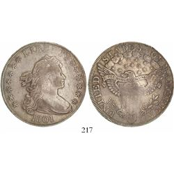USA (Philadelphia mint), $1 draped bust Liberty, 1801.
