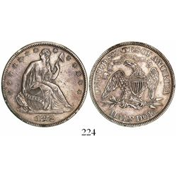 USA (Philadelphia mint), half dollar seated Liberty, 1872.