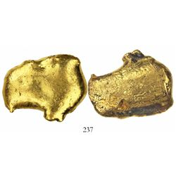 Natural (smooth) gold nugget or small ingot, 21 grams, from the 1715 Fleet.