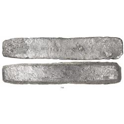 "Silver ""barreton"" ingot, 6015 grams, marked with fineness IIU CCC L XXX (2380/2400), from the Atocha"