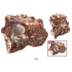 Natural copper nugget from Michigan, 3.6 kg.