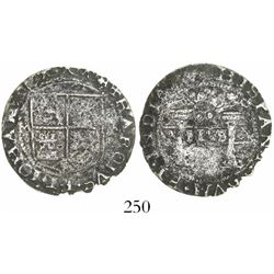 """Mexico City, Mexico, 2 reales, Charles-Joanna, """"Early Series,"""" assayer P to right, mintmark M to lef"""