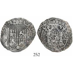 "Mexico City, Mexico, 4 reales, Charles-Joanna, ""Early Series,"" assayer R between pillars."