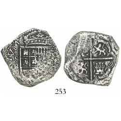 Seville, Spain, cob 4 reales, Philip III, assayer B.