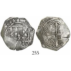 Mexico City, Mexico, cob 2 reales, Philip III, assayer not visible, pre-1607, Grade-1 quality, origi