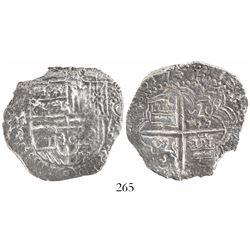 Potosi, Bolivia, cob 8 reales, (1)617M, Grade 2.