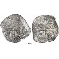 Potosi, Bolivia, cob 8 reales, (16)18, assayer not visible, Grade 1.