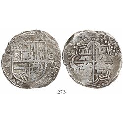 Potosi, Bolivia, cob 8 reales, (1)619T, Grade 2.