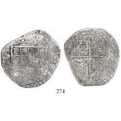 Potosi, Bolivia, cob 8 reales, (16)19T, Grade 2+.
