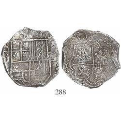 WITHDRAWN -Potosi, Bolivia, cob 4 reales, (1)617M, Grade 1, with original tag but certificate missin