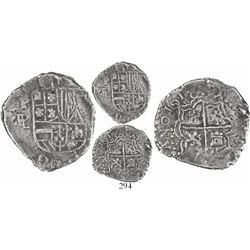 Potosi, Bolivia, cob 2 reales, 1618PAL, Grade 1, rare.