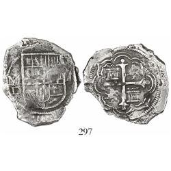 Mexico City, Mexico, cob 4 reales, 1610/09D, Grade 1, rare.