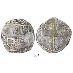 Potosi, Bolivia, cob 8 reales, (161)9T, Grade 2.
